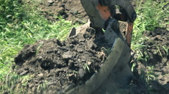 Digger  Excavator digging and excavating, slow motion Stock Footage