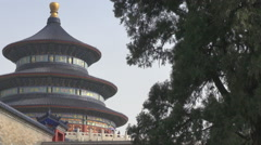 Famous Temple of Heaven traditional pagoda in Beijing Asian tourism attraction Stock Footage