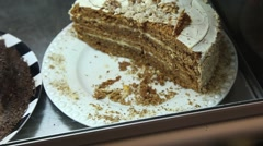 Cake on display in a pastry shop Stock Footage