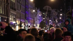 Christmas decorations on regent's street London Stock Footage