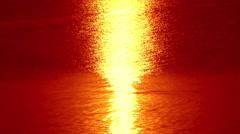 4K reflection morning sunrise at sea Stock Footage