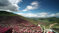 China's Tibet color since the time-lapse photography Stock Footage