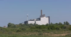 Eemscentrale, a gas-fired combined cycle power plant Stock Footage