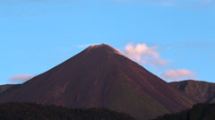 Time-lapse of Reventador Volcano erupting at dawn,  August 2016.  Stock Footage