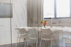 Empty conference room in architectural firm Stock Photos