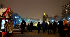 Tverskoy Boulevard where Christmas shines the light Stock Footage