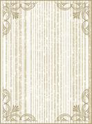 Old frame with cracked striped background in gentle tones.Retro vintage greet Stock Illustration