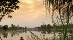 China chengdu chengdu lake latency Stock Footage