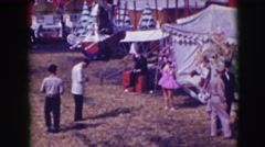 1948: performers at the carnival before the show. CHICAGO, ILLINOIS Stock Footage