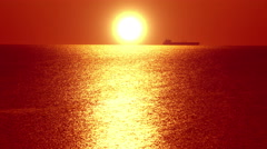 4K seascape at sunset background Stock Footage