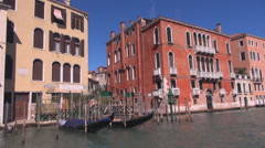 POV Point of view boat sail Venice Grand Canal old town architecture attraction Stock Footage