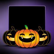 Halloween pumpkin background, frame and border Stock Illustration