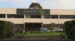 Woolworth's Supermarket Distribution Center (Wide) Stock Footage