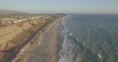 Flyover of the San Clemente State Beach during Golden Hour Stock Footage