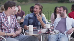 4K Happy attractive young male friends Stock Footage