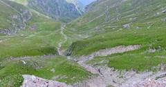 Tilt at Omu Peak,Romania Stock Footage