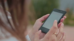 Close up of Woman Hands Using Smartphone Stock Footage