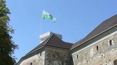The castle of Ljubljana Stock Footage