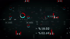 Business Graphs And Data Black Stock Footage