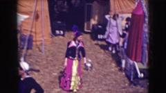 1948: a woman is seen wandering in her free time, the scene looks like a person Stock Footage