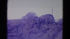 1958: picturesque landscape with animals moving through NEBRASKA Stock Footage