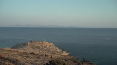 Island View from Rocks 4K Stock Footage