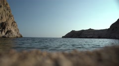Sea Water from the Sand 4K Stock Footage