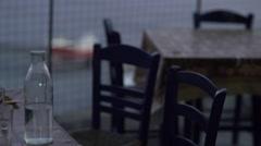 Greek Restaurant at Dusk 4K Stock Footage