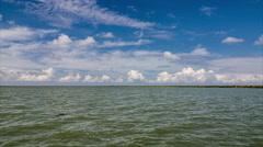 4K UHD  Kizilirmak Delta and the  Bird Sanctuary wetlands Time Lapse Stock Footage
