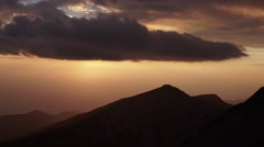 High Mountains Dramatic Sunset Timelapse 4K Stock Footage
