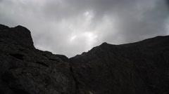 Pirin Rocks Clouds Timelapse 4K Stock Footage
