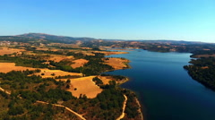 Beautiful lake of Sete Cidades, Portugal Europe Stock Footage