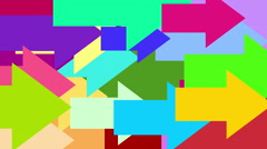 Colorful arrow with alpha channel, best use for video transition Stock Footage
