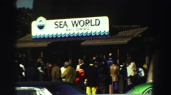 1969: a large lineup of people at seaworld RENO, NEVADA Stock Footage