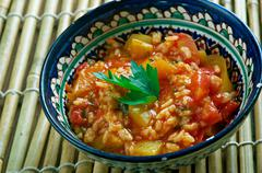 Turkish appetizer of tomato Stock Photos