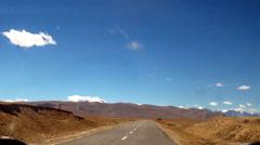 Tibet ali district road traffic Stock Footage