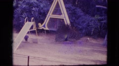 1974: a' picky peacock- the proud purveyor of it's personal park paradise  Stock Footage