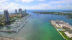 Aerial movie of Miami Beach Stock Footage