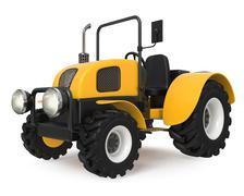 3d illustration farmer's tractor Stock Illustration