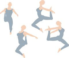 Dancer silhouette Stock Illustration
