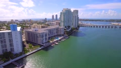Miami Beach West Ave architecture Stock Footage