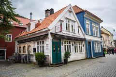 BERGEN, NORWAY-JULY 16: Streets of Bergen 16, 2016 in Bergen, Norway. A stree Stock Photos