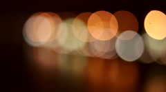 Flickering Lights Against a Dark Background Multicolored Lights Stock Footage