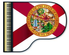 Grand Piano Florida Flag Stock Illustration