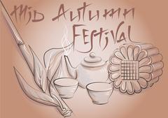 Mid Autumn Festival Stock Illustration