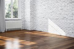 3d render - empty room - apartment Stock Illustration