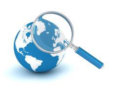 Searching world concept 3d illustration Stock Illustration