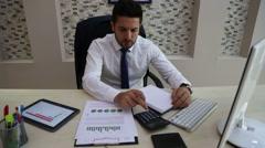 Calculator calculation business office Stock Footage