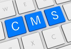 Cms keyboard concept 3d illustration Stock Illustration