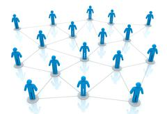 People network connections concept 3d illustration Stock Illustration
